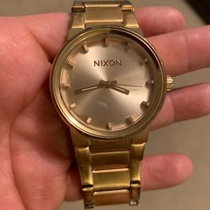 Nixon Gold Cannon Watch